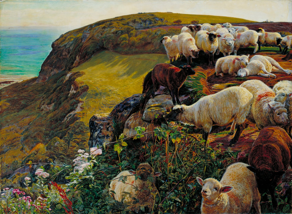 William Holman Hunt - Our English Coasts 1852 Strayed Sheep-1200
