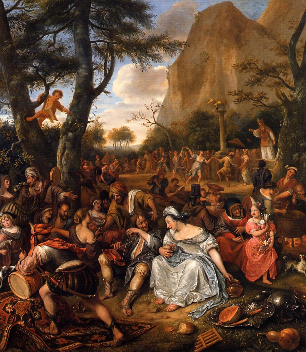 Worship of Golden Calf 1673-1677 - Jan Steen
