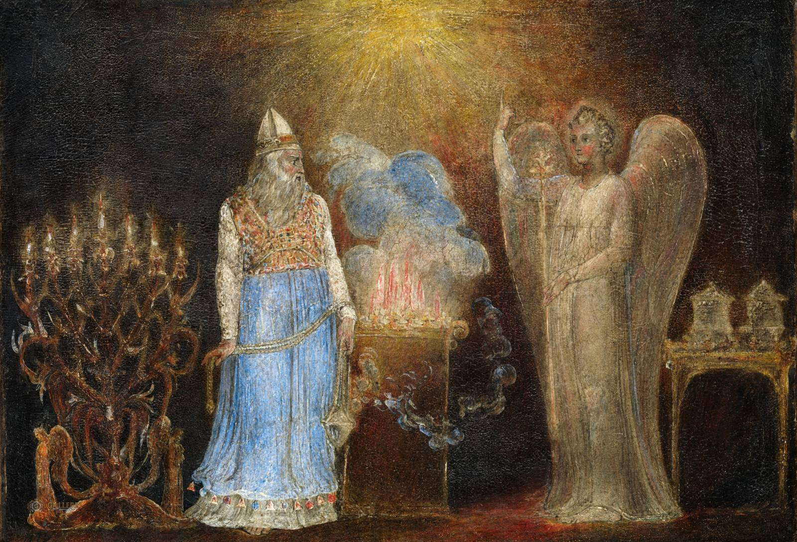 Zacharias and the Angel - William Blake 1799