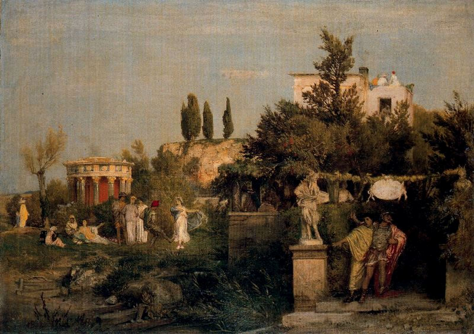 arnold böcklin tavern in ancient rome