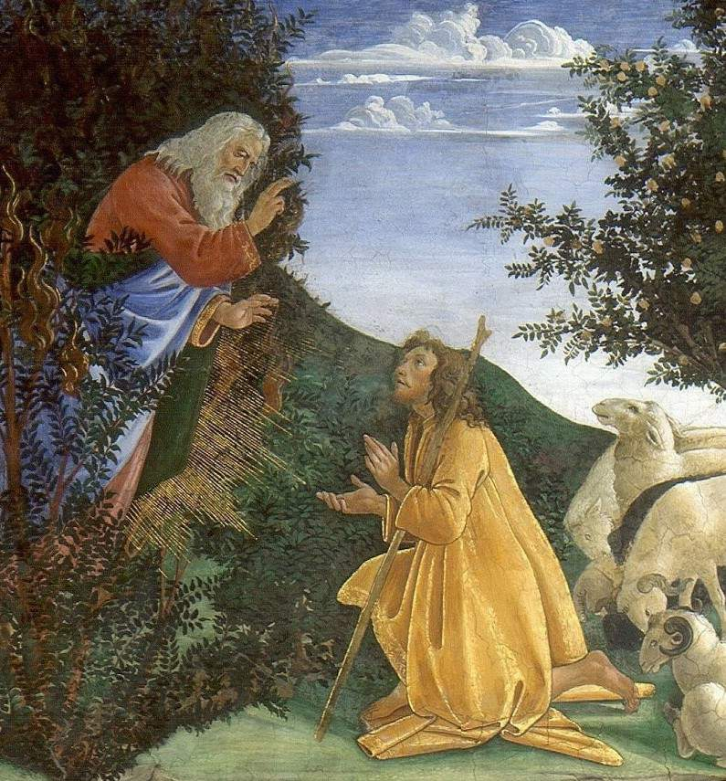 boticelli-Moses before the LORD