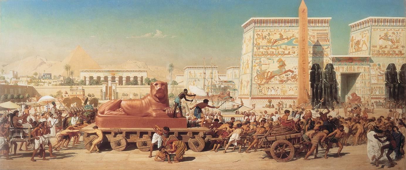 edward poynter 1867-israel in egypt555