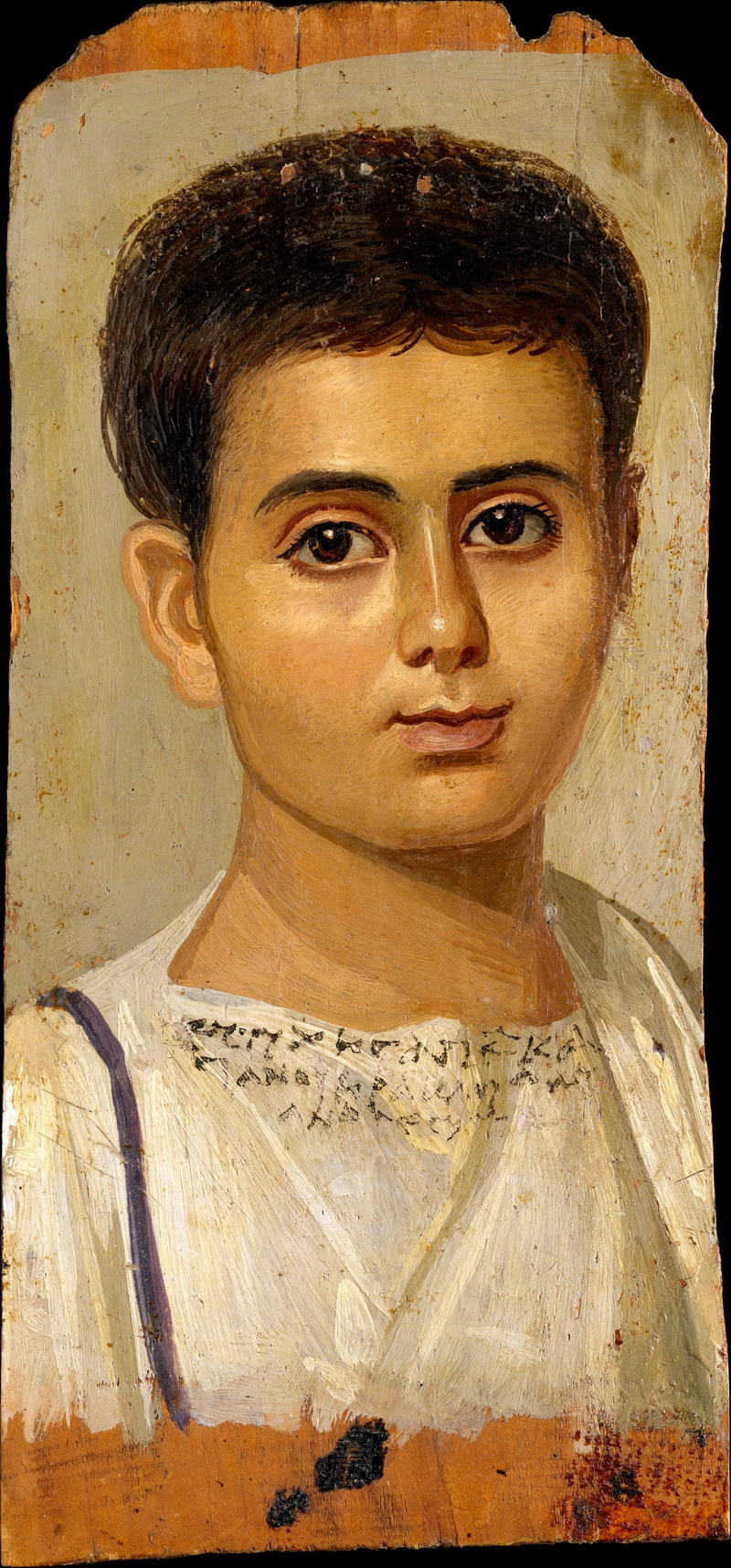 fayum portraits metropolitan museum-Portrait of the Boy Eutyches Encaustic on wood-800