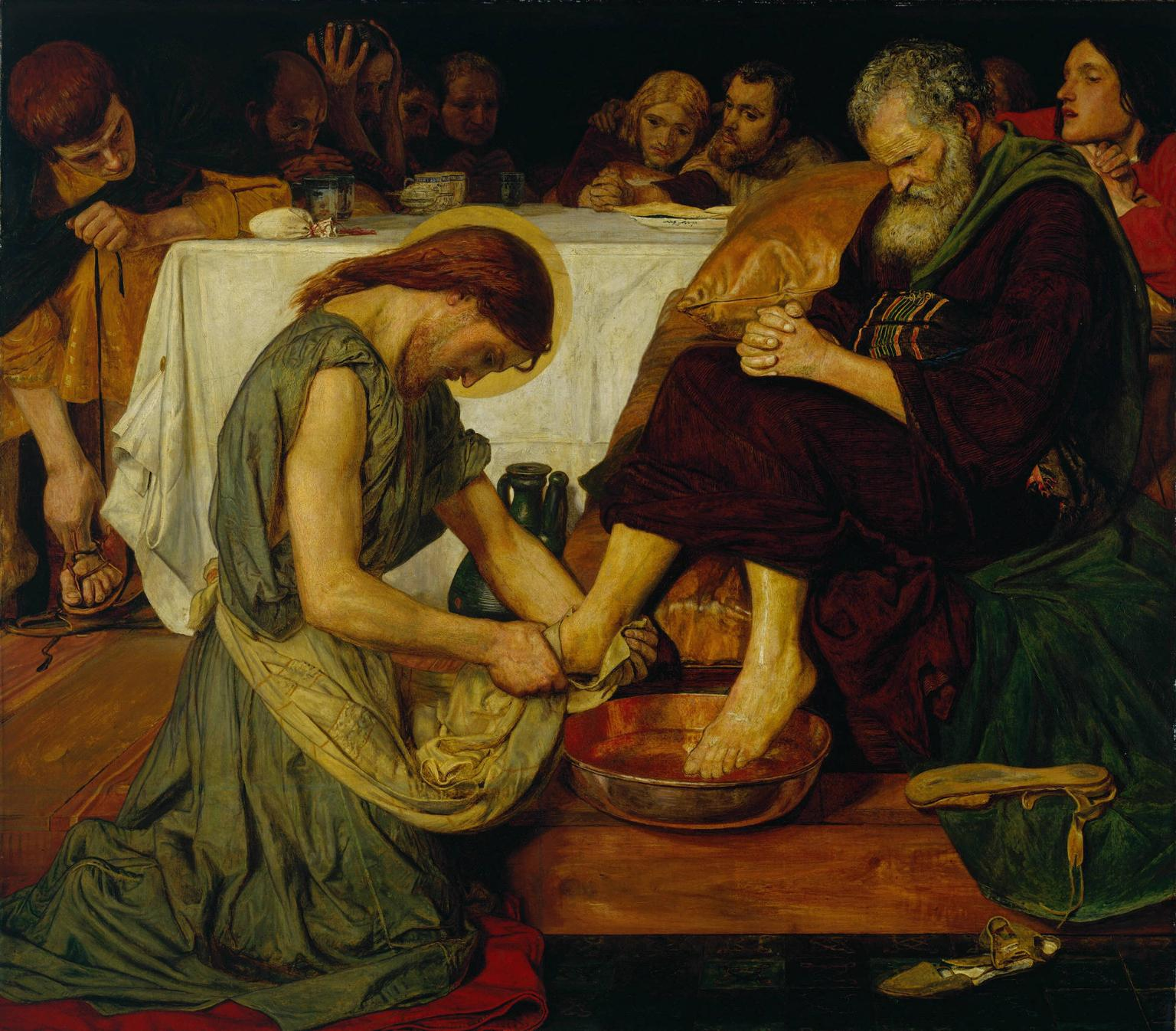 ford-madox-brown-christ-washing-peters-feet-1851-56