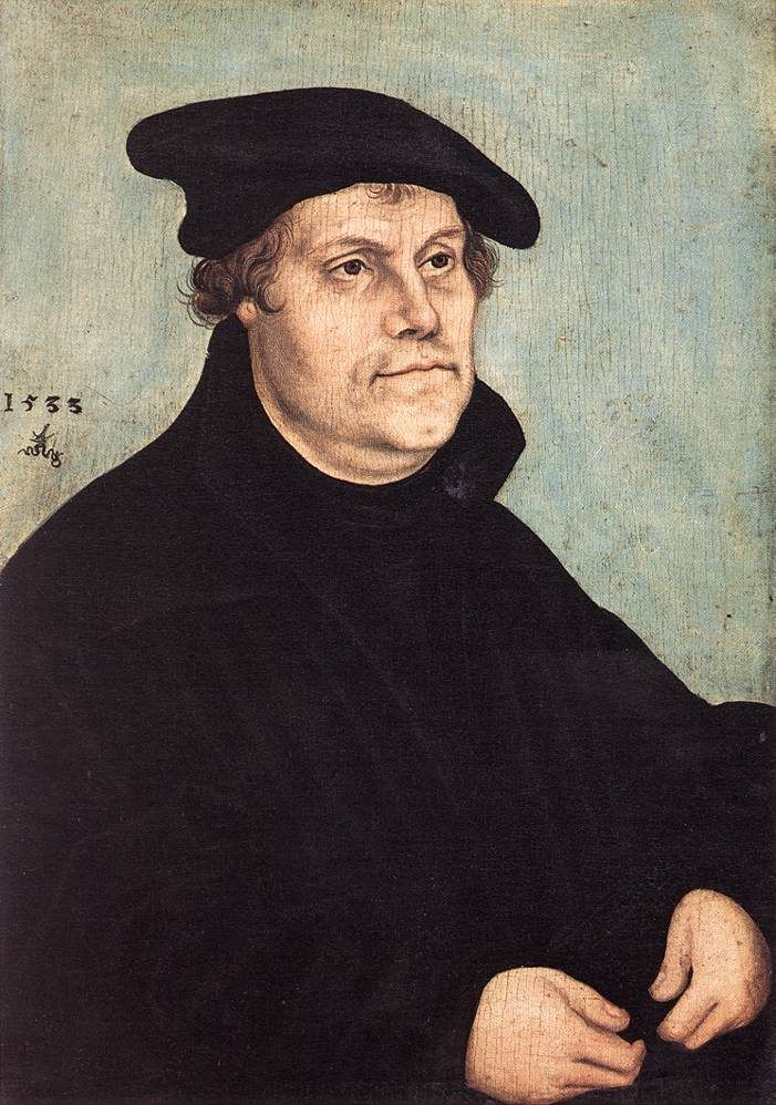 Cranach the Elder Portrait of Martin Luther 1543