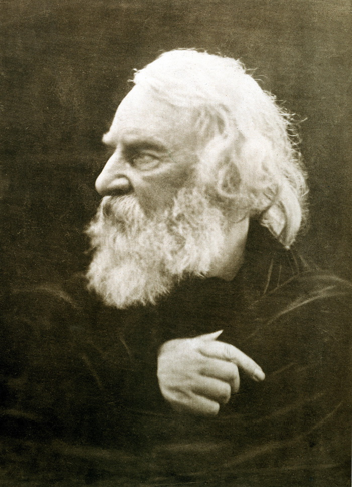 Henry Wadsworth Longfellow photographed by Julia Margaret Cameron in 1868-700