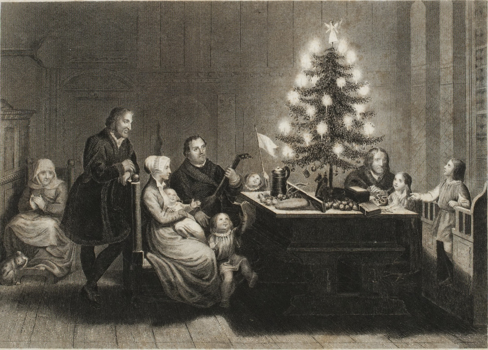 Luther Amidst His Family at Wittenberg on Christmas Eve 1536-2
