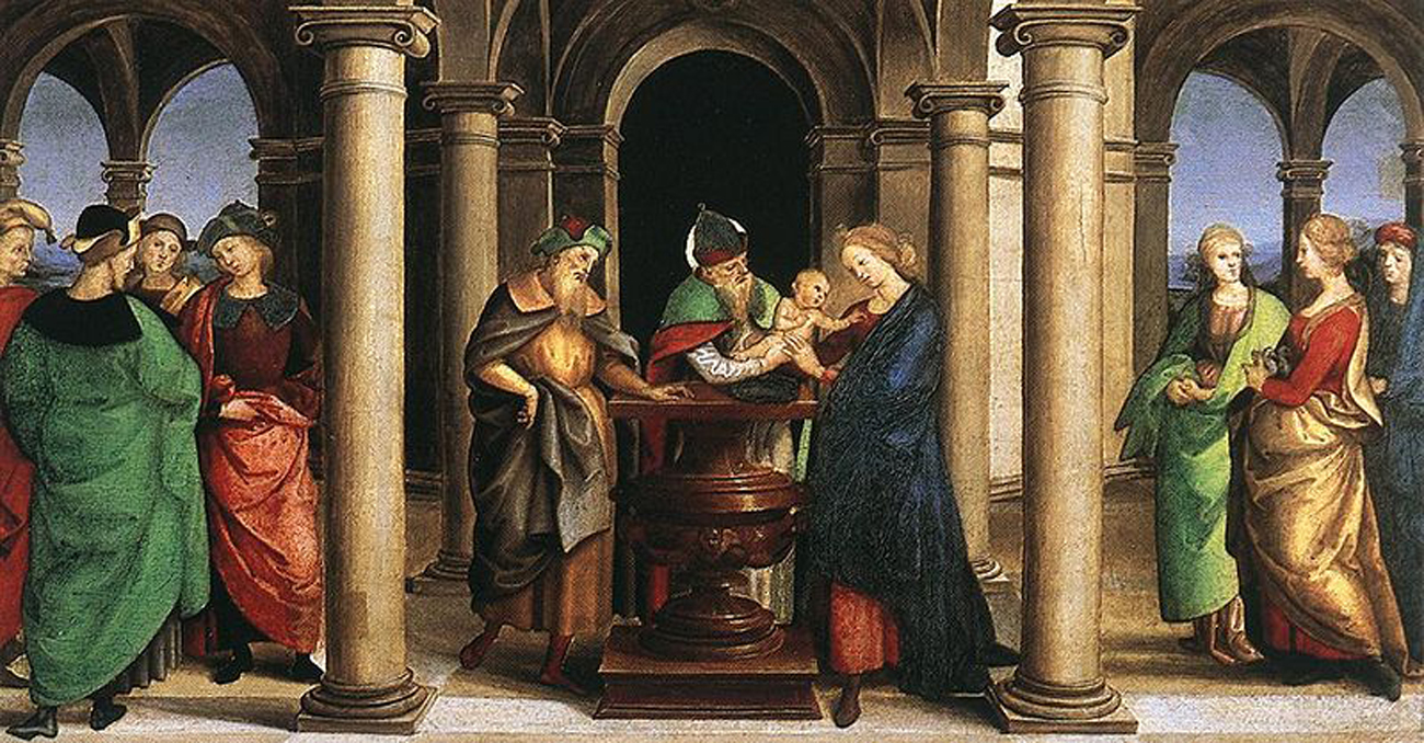 raphael the presentation in the templei oddi altar