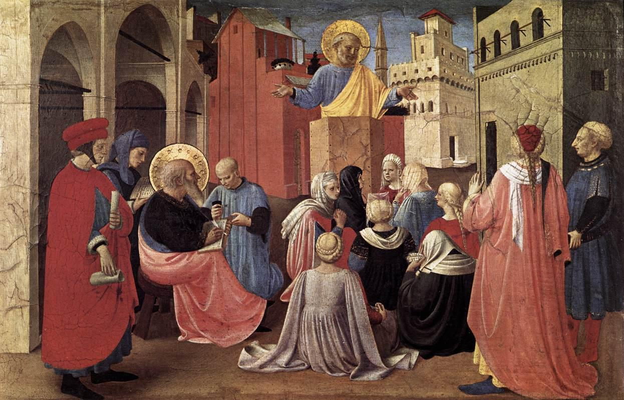 st peter preaching in the presence of st mark big