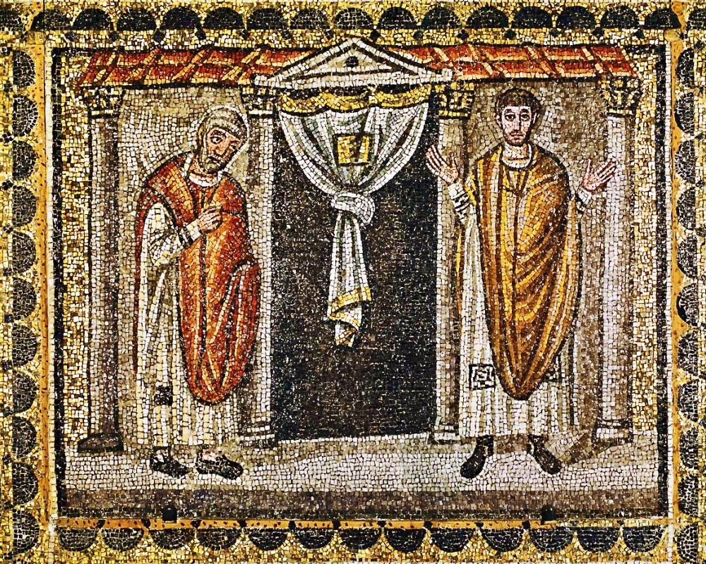 the-pharisee-and-the-publican-basilica-di-santapollinare-nuovo-ravenna