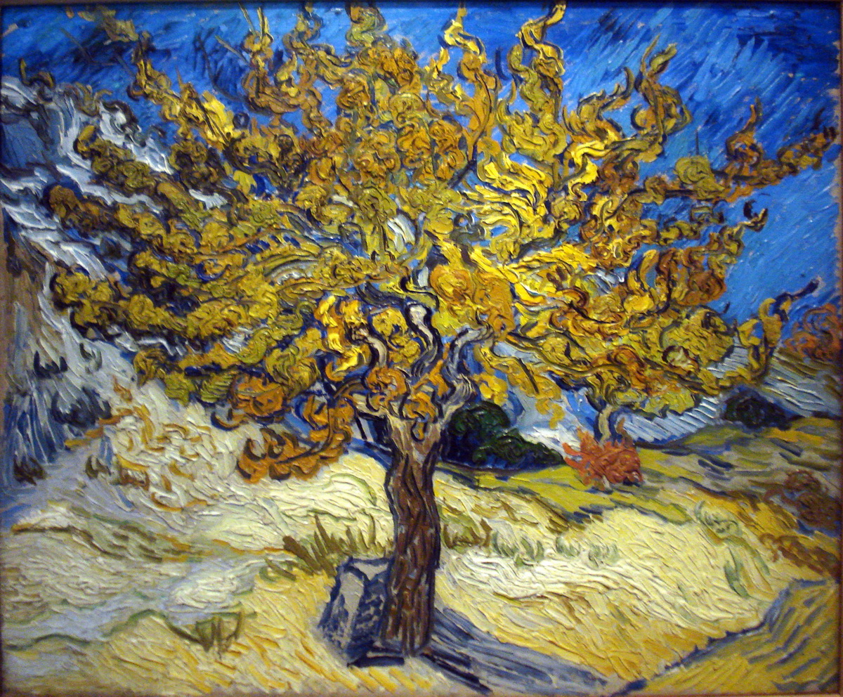 the mulberry tree by vincent van gogh-1200