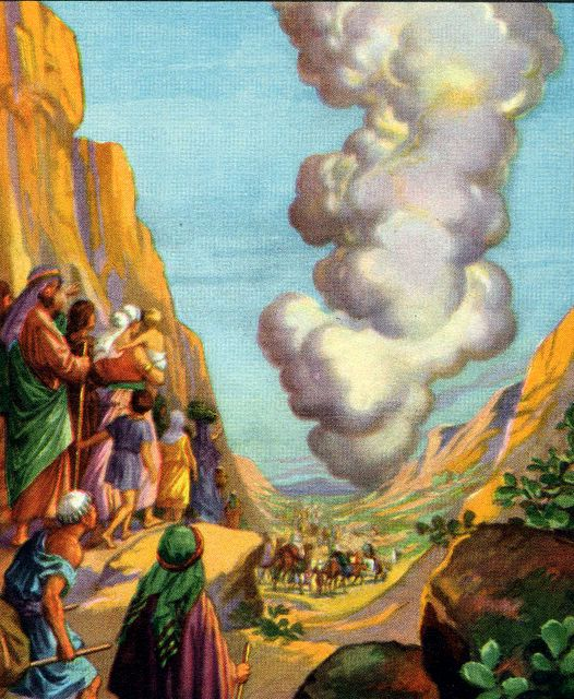 the pillar of cloud leading the israelites