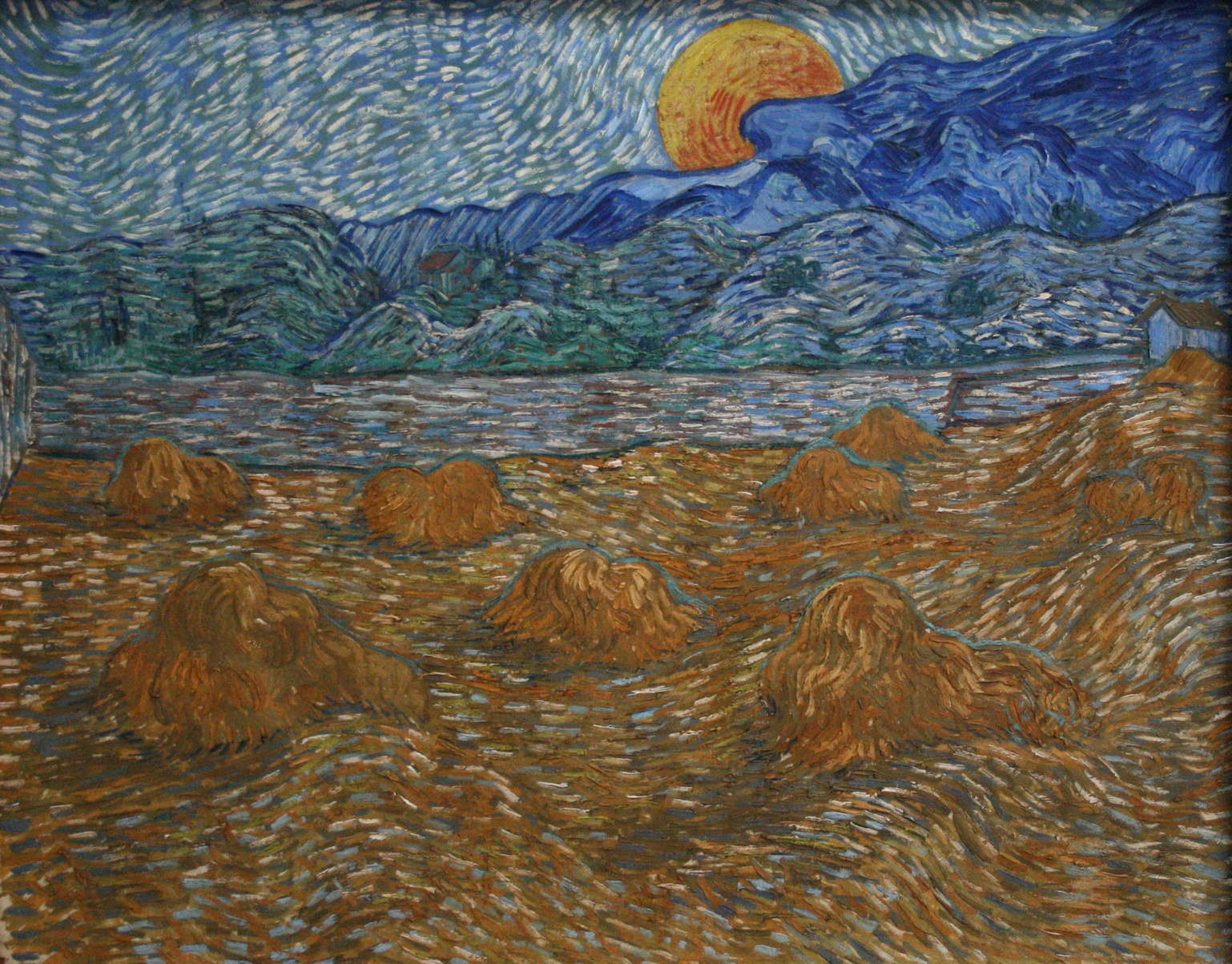 vincent-van-gog-Landscape with wheat sheaves and rising moon-1500