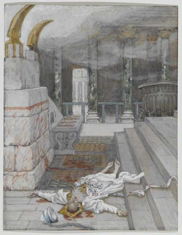zechariah killed between the temple and the altar Tissot